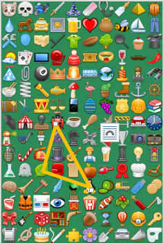 screenshot with various icons with a selected pattern