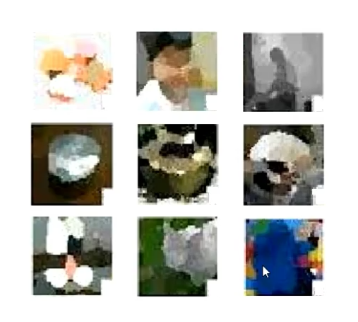 grid of blurred icons