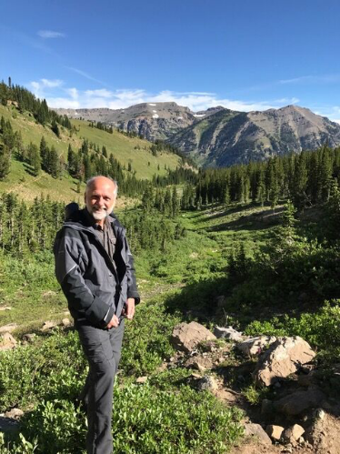 Photo of Nigel Bevans in an expansive nature setting