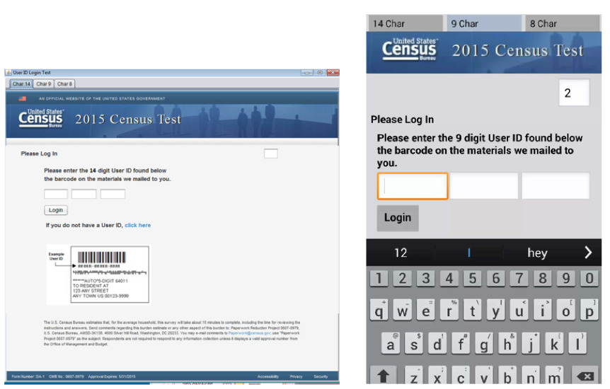 Images of the login interface for PC and for mobile.